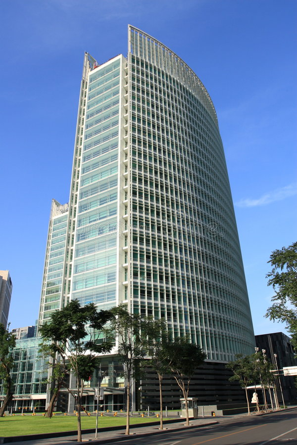 Office building in modern city,Beijing stock image