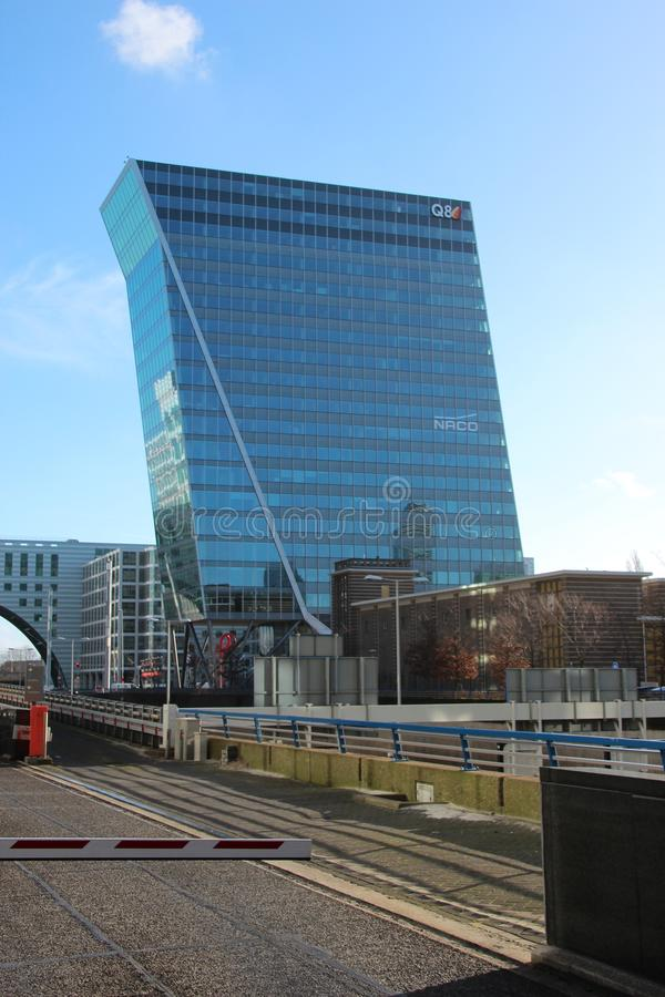 Office building named the swan of the hague at the beatrixkwartier in Den Haag the Netherlands. stock photos