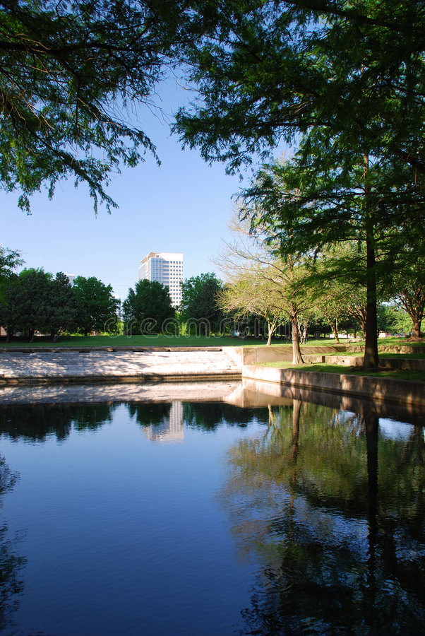Download Office building with pond stock image. Image of park, mirror - 4813997