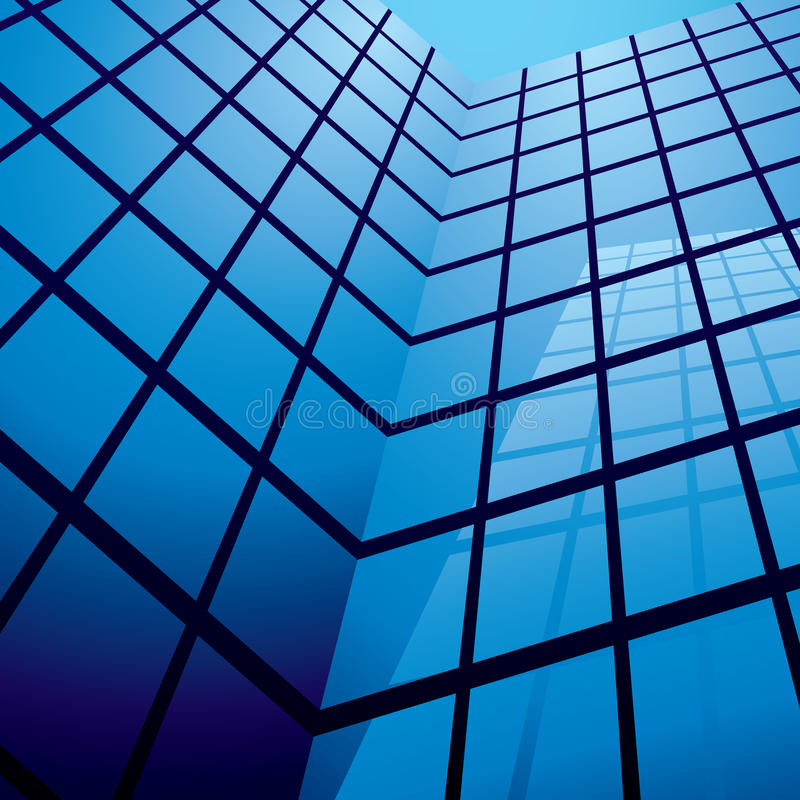 Download Office building reflection stock vector. Image of tall - 9391340