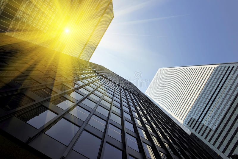 Office building on a sunny day stock photography