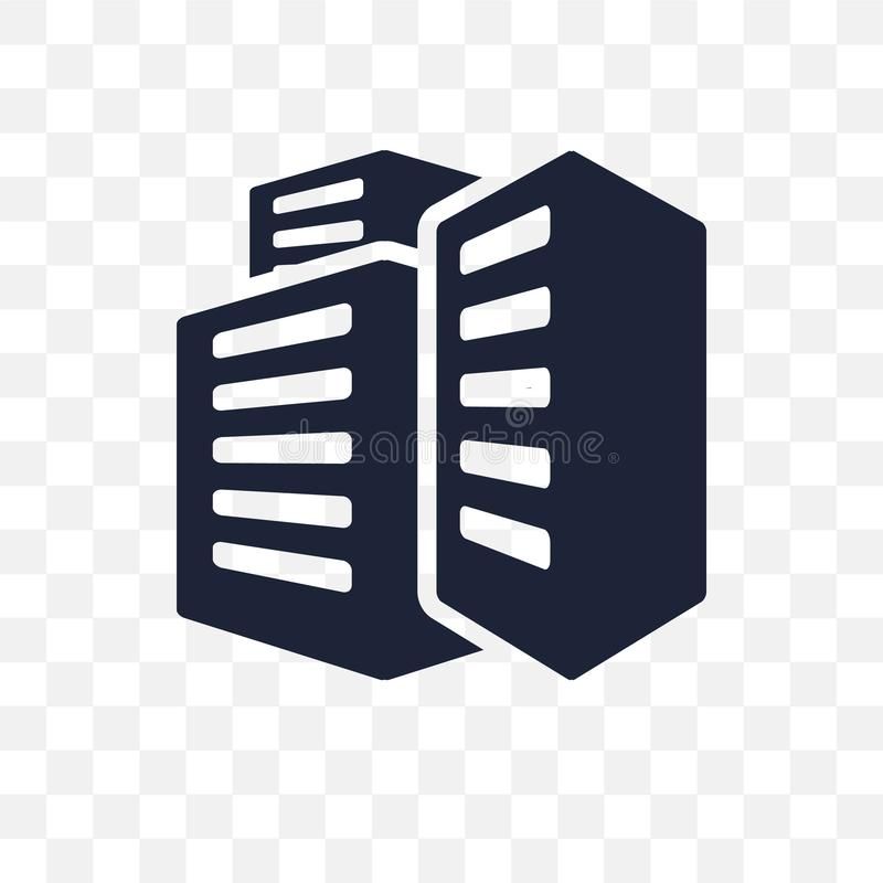 Office building transparent icon. Office building symbol design. From Human resources collection vector illustration