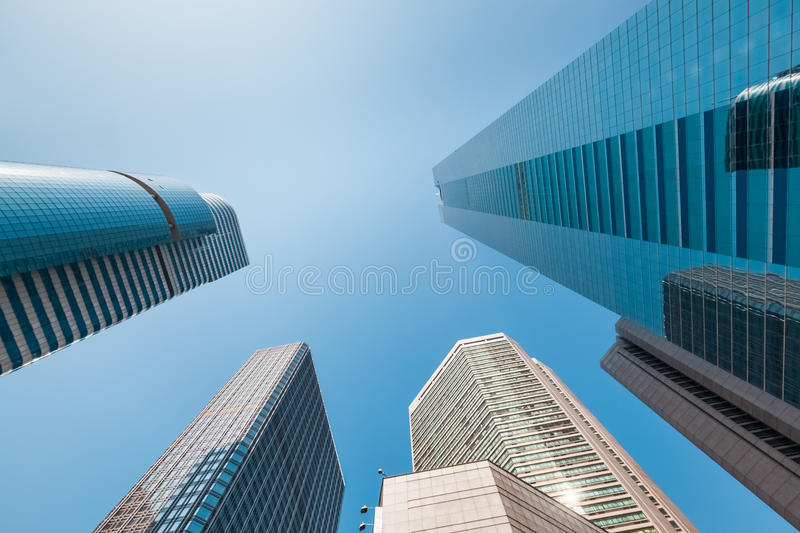 Office building under the blue sky royalty free stock photos