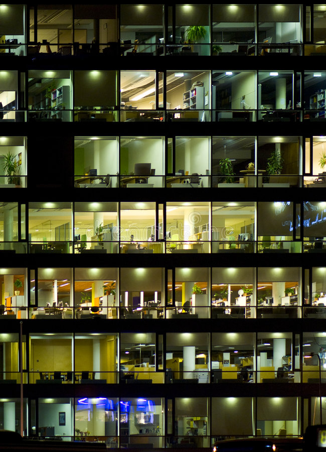 Free Office Building Windows Royalty Free Stock Photography - 8342007