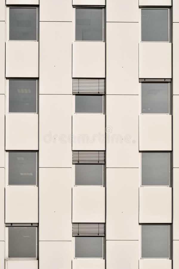 Office building windows. Conservative style architecture office building windows royalty free stock image