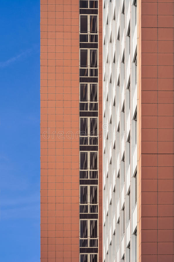 Office building windows. Conservative style architecture office building windows stock images