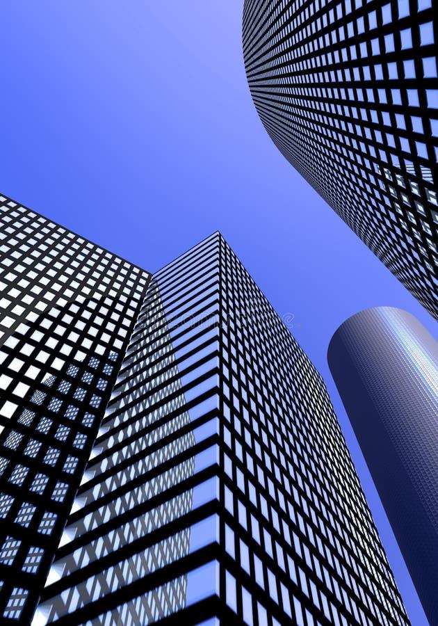 Office buildings vector illustration