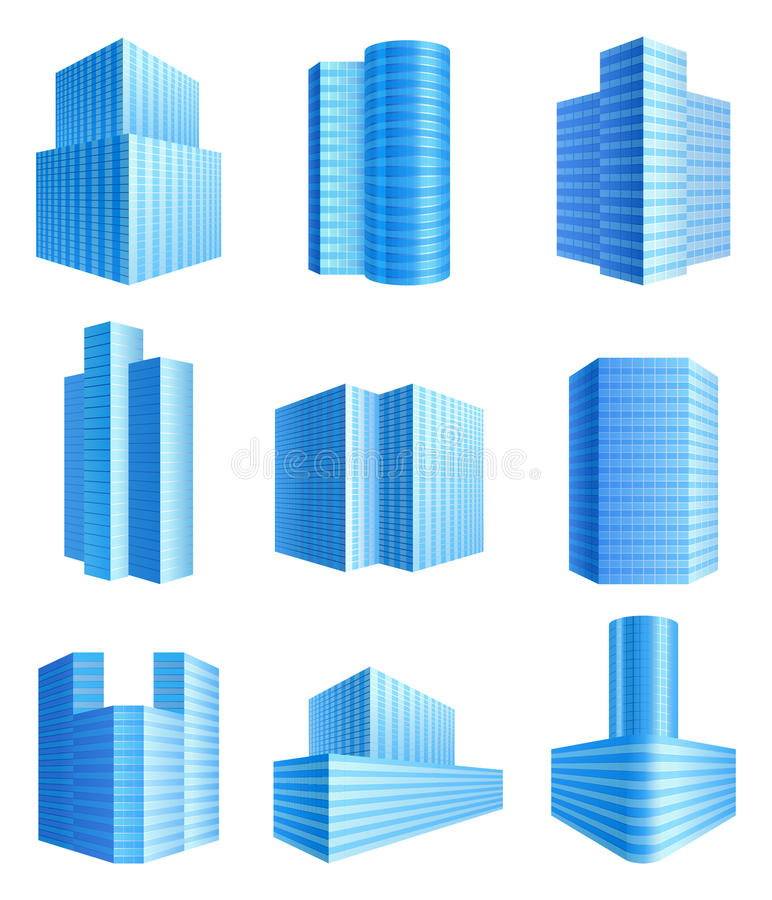 Download Office buildings stock vector. Image of contemporary - 24395289