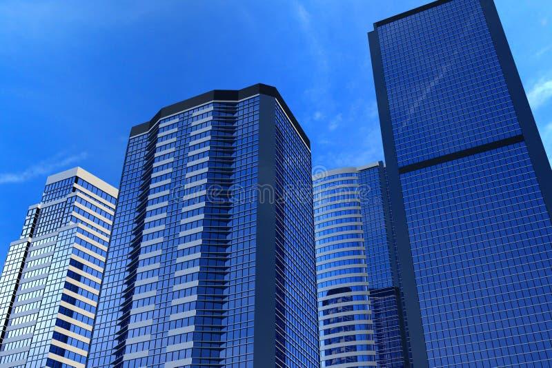 Download Office buildings stock illustration. Illustration of bright - 8673871