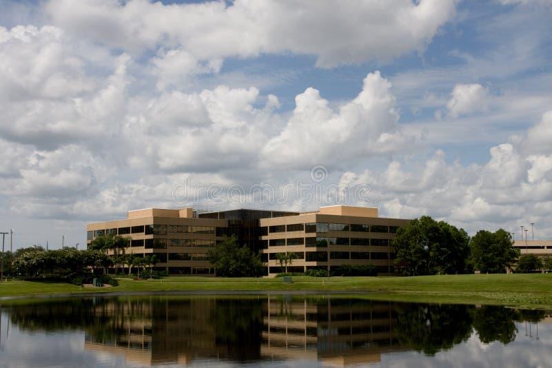 Office Buildings Across Lake stock photos