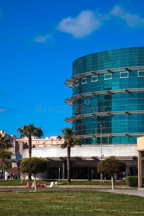 Office buildings of Cadiz, Spain stock photography