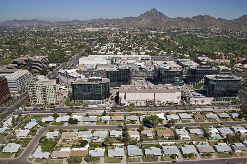 Download Office Buildings On Camelback Rd. Royalty Free Stock Photos - Image: 25567608