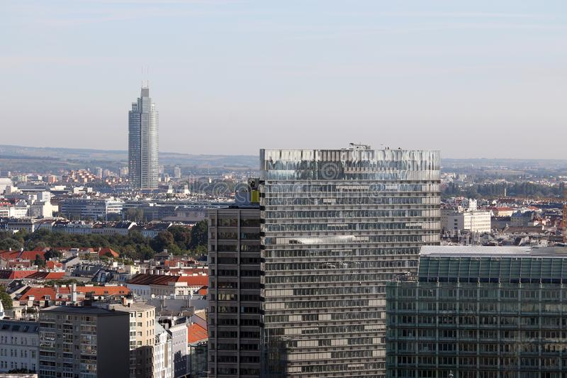 Office buildings cityscape view of Vienna royalty free stock images