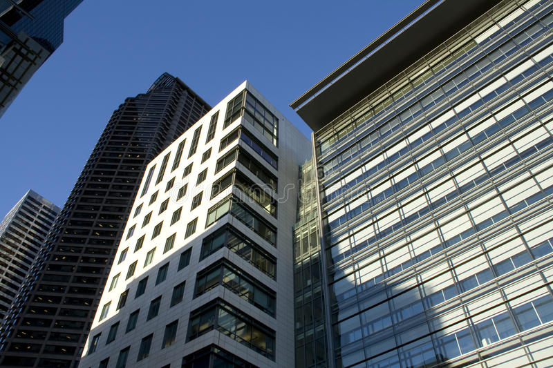 Office buildings. Of different shapes stock images