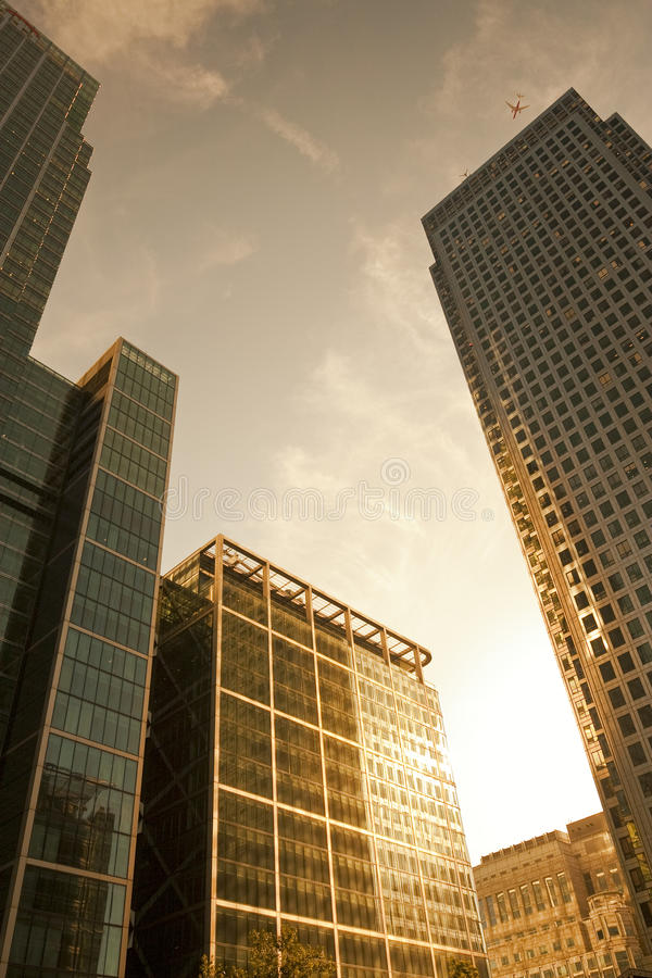 Office buildings in London royalty free stock image