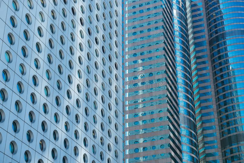 Office buildings, modern glass and metal. Hong Kong. stock photography