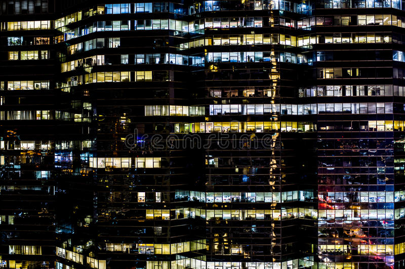 Download Office Buildings At Night, Bangkok, Thailand Stock Image - Image of nighttime, skyscrapers: 77173139