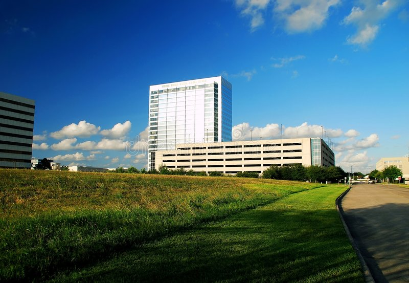 Download Office Buildings And Open Field Stock Image - Image: 5459259