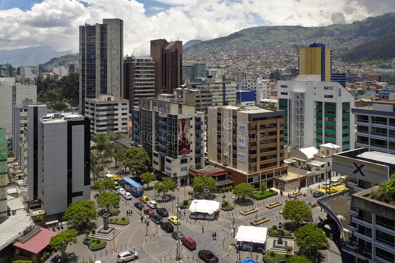 Office buildings in Quito, Ecuador stock images