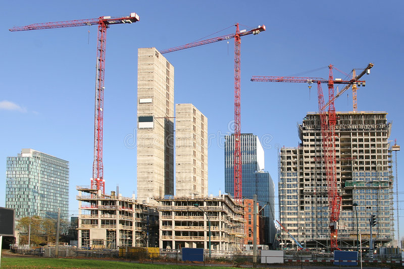Download Office Buildings Under Construction Stock Photo - Image: 1686316