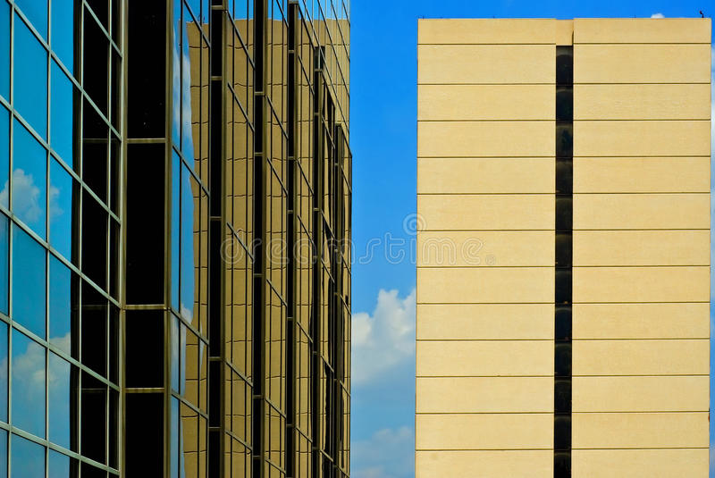 Office buildings in urban center royalty free stock photo