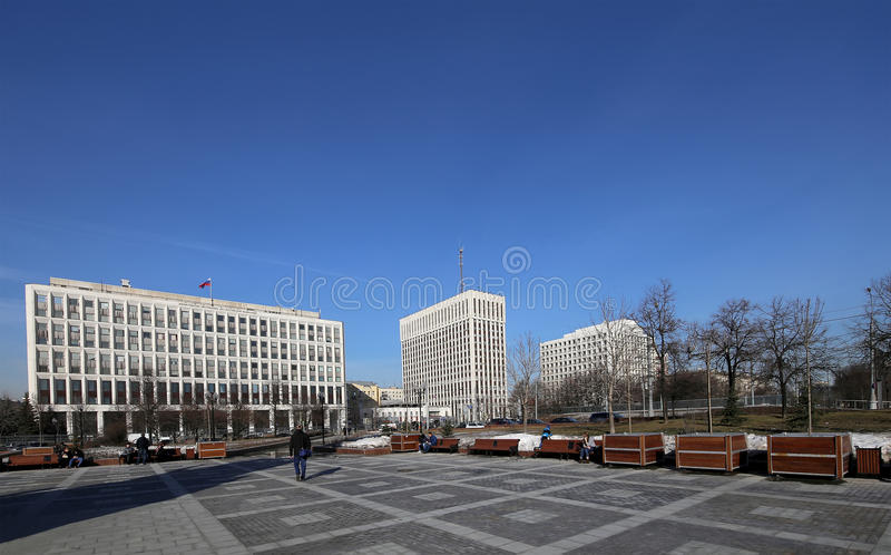 Office buildings on Zhitnaya Street, center of Moscow, Russia royalty free stock images