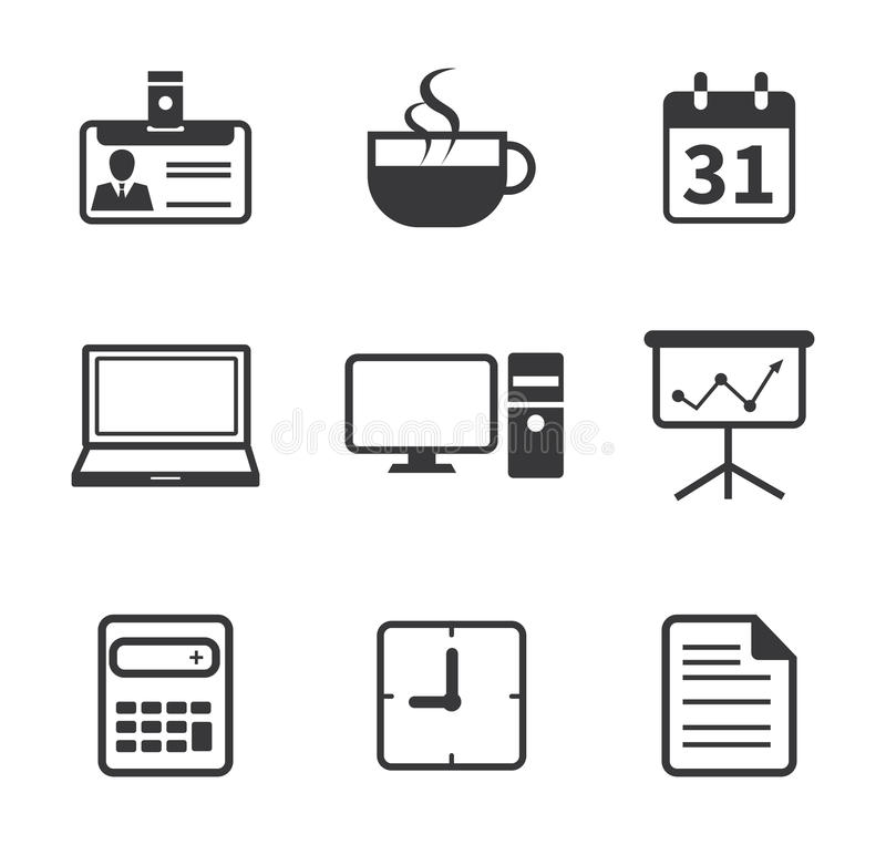 Office and Business Icon stock illustration