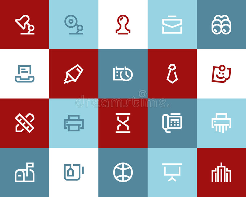Office and business icons. Flat style. Office and business icons set. Flat style royalty free illustration
