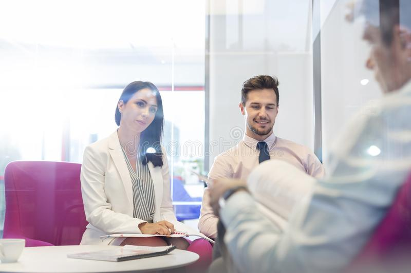 Business people planning strategy in meeting at office stock images
