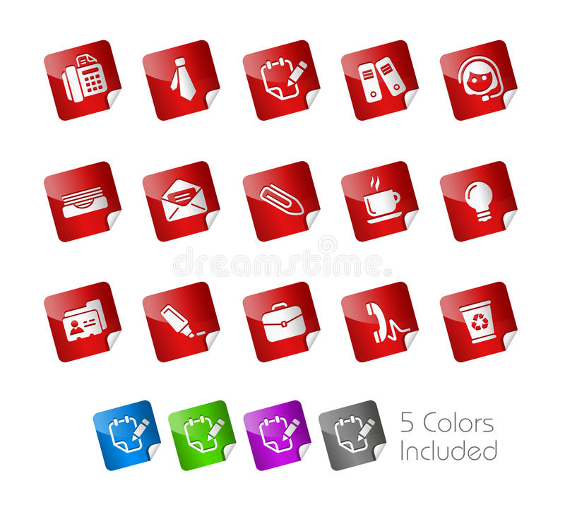 Download Office & Business // Stickers Stock Vector - Illustration of card, metal: 18497610