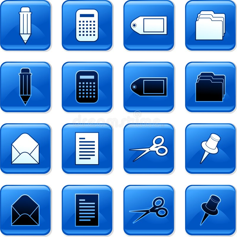 Download Office buttons stock illustration. Image of graphics, collection - 4044772