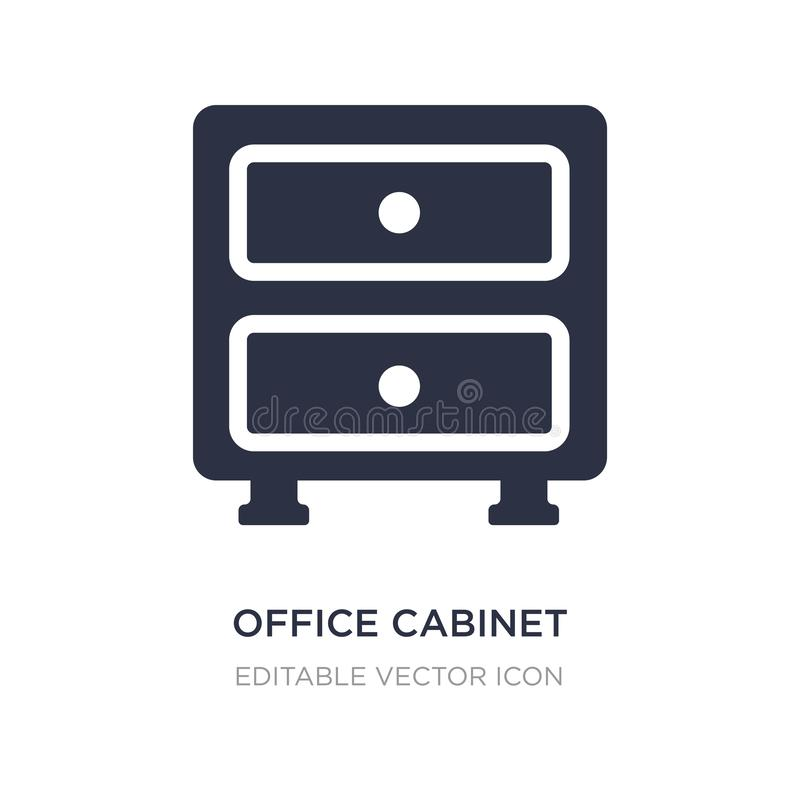 office cabinet icon on white background. Simple element illustration from General concept vector illustration