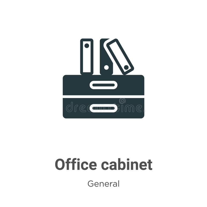 Office cabinet vector icon on white background. Flat vector office cabinet icon symbol sign from modern general collection for. Mobile concept and web apps stock illustration
