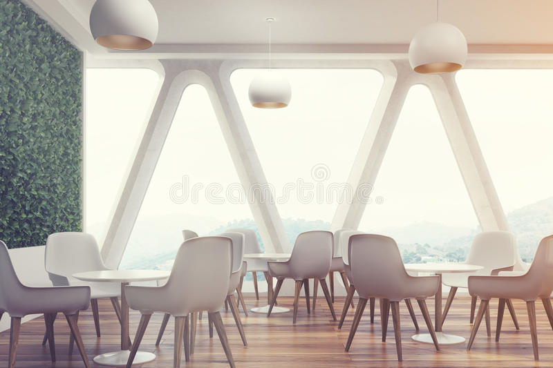 download office cafe interior grass wall toned stock illustration image 94099378 - Large Cafe Interior