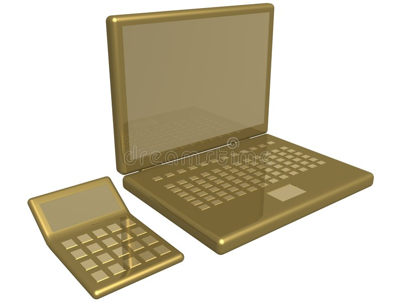 Download Office Calculator And Laptop Stock Illustration - Image: 2564570