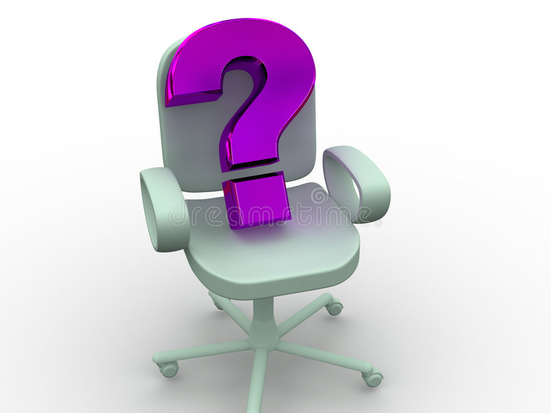 Office chair. royalty free illustration