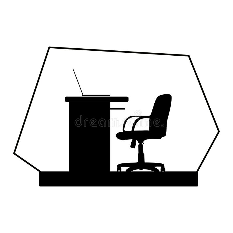 Office chair and desk royalty free stock image