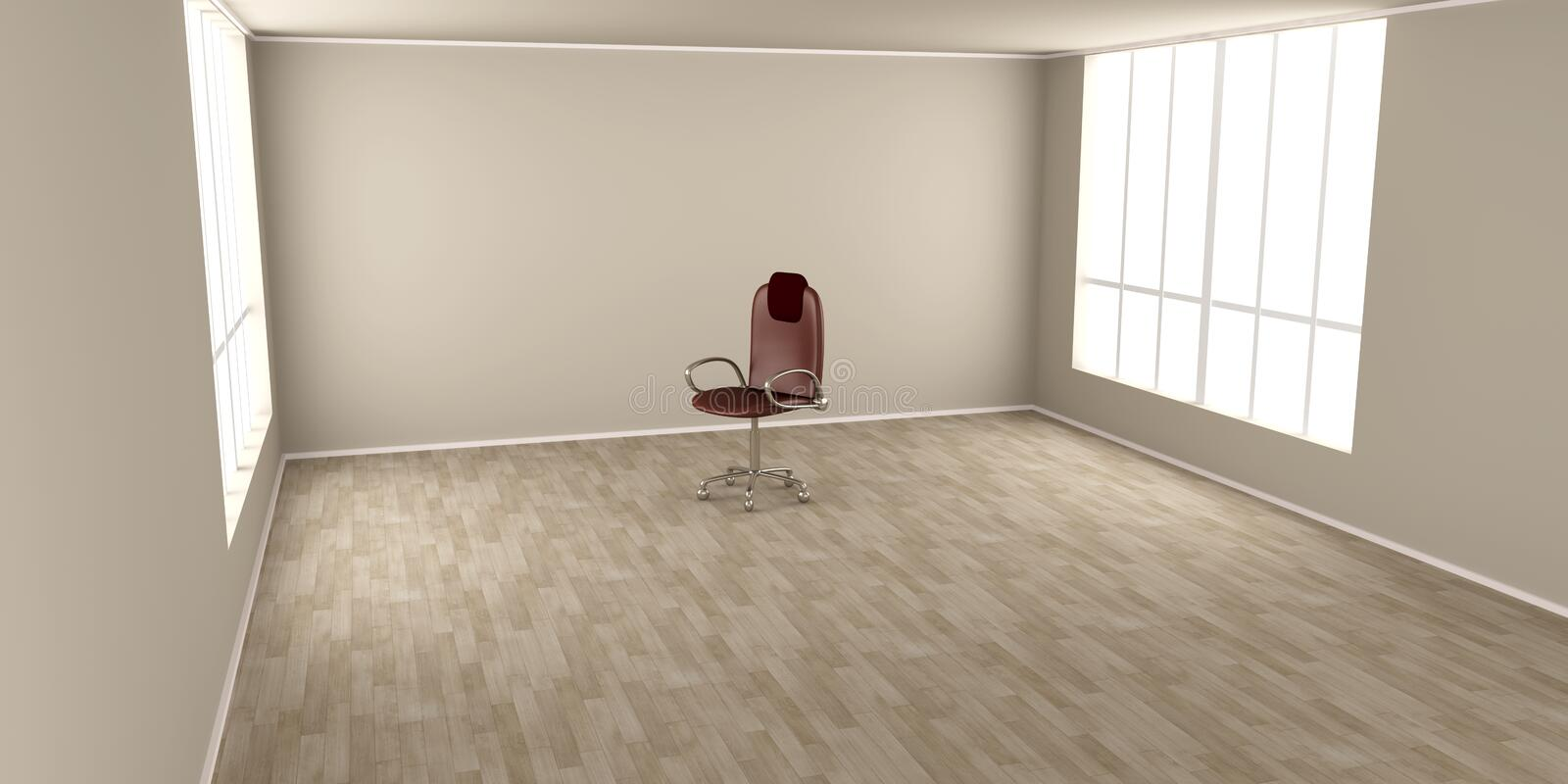 Download Office Chair In A Empty Room Stock Illustration