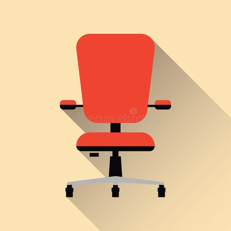 Office chair. Flat design. Vector illustration. stock image