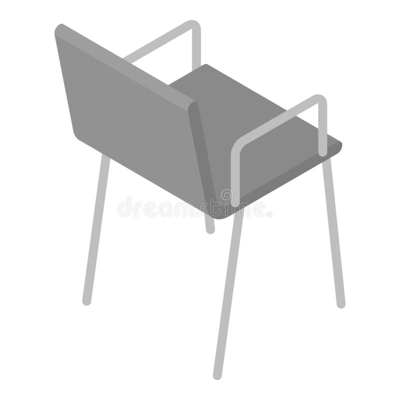 Office chair icon, isometric style. Office chair icon. Isometric of office chair vector icon for web design isolated on white background vector illustration