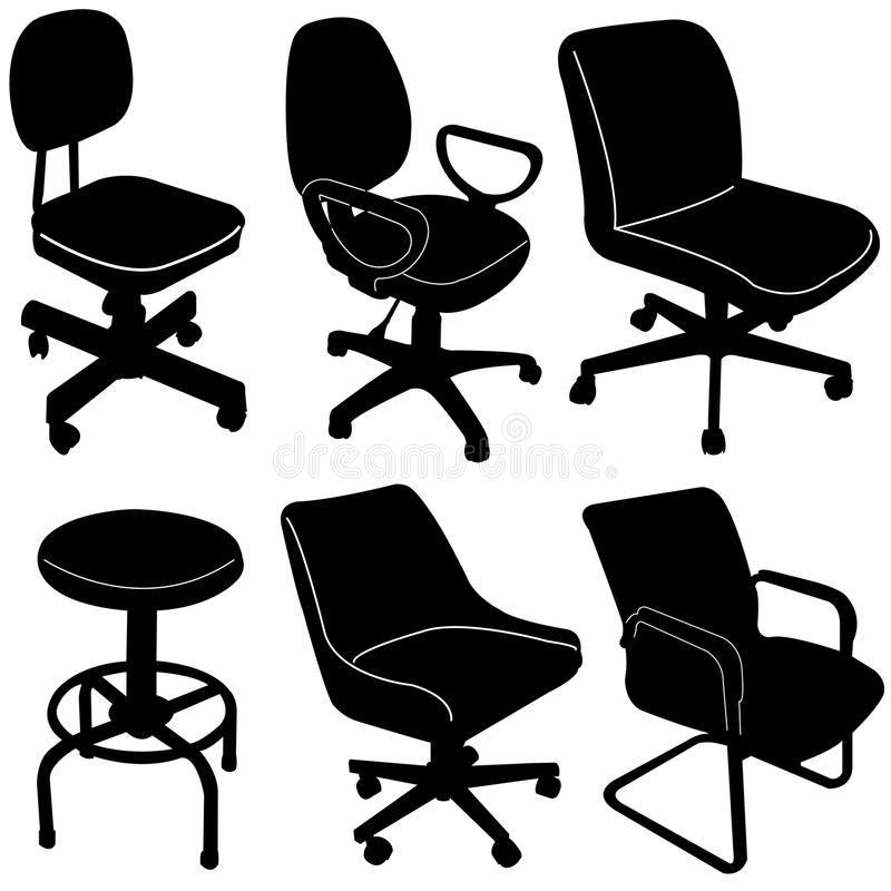 Download Office Chair Silhouette  Vector Stock Photo - Image of wooden, armchair: 32226854