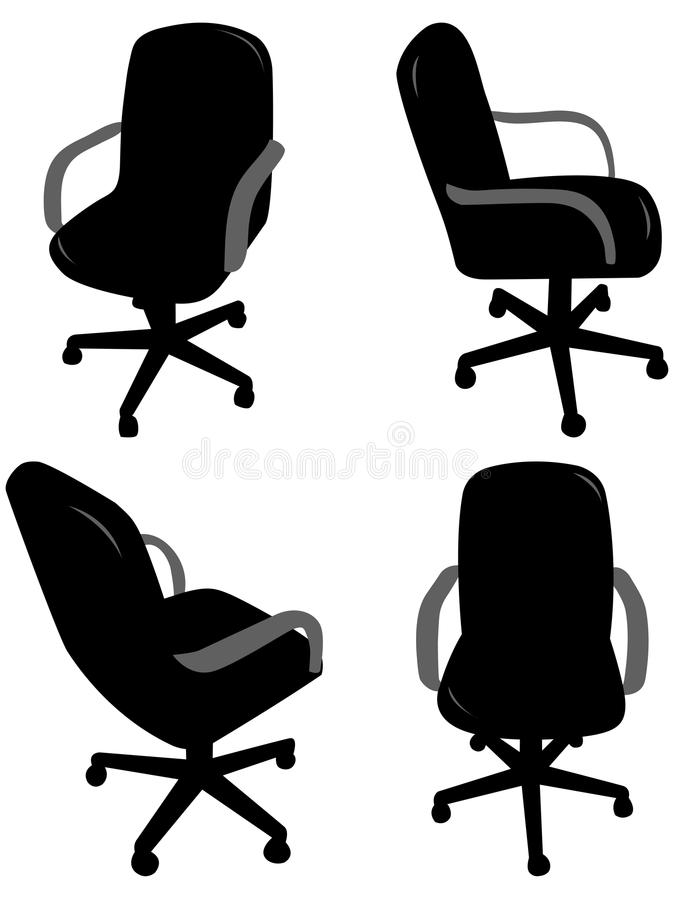 Free Office Chair Silhouettes Stock Image - 12818061