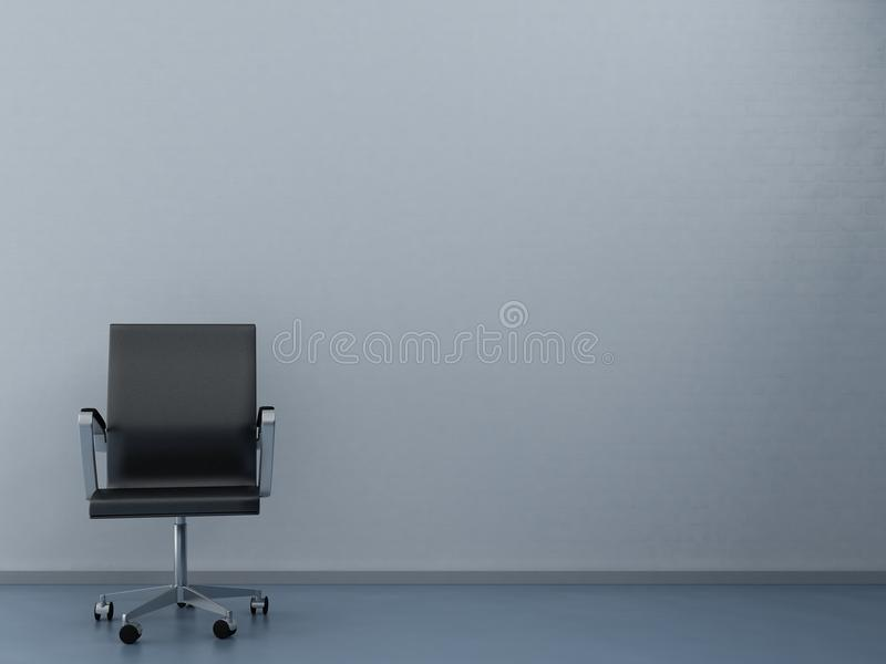 Office Chair to face a blank wall stock illustration