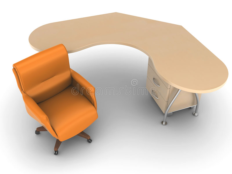 Download Office Chair With Worktable Royalty Free Stock Photo - Image: 8658835