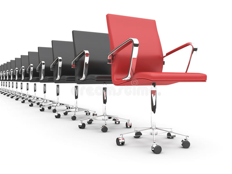 Office chairs vector illustration