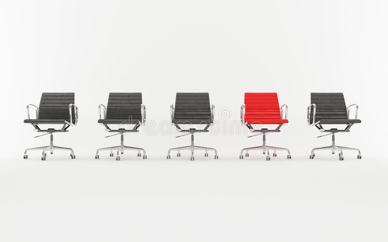 Office chairs different colors stock image