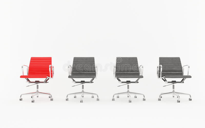 Office chairs in queue stock image