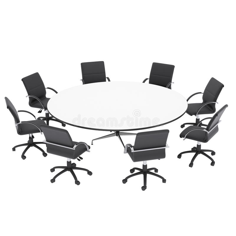 Download Office Chairs And Round Table Royalty Free Stock Photo - Image: 34281195