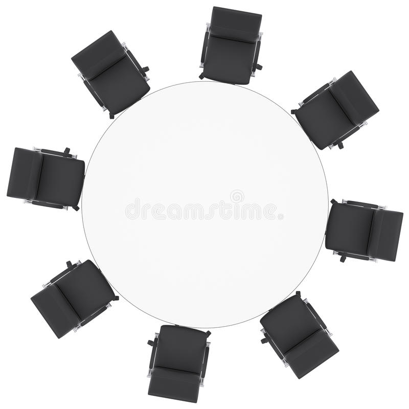 Office Chairs And Round Table Royalty Free Stock Images