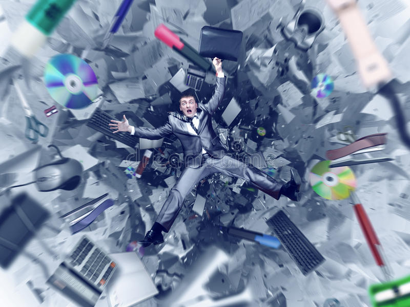 Office chaos abyss royalty free stock photography